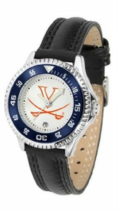 Virginia Cavaliers UVA NCAA Womens Leather Wrist Watch by SunTime. $72.95. Showcase the hottest design in watches today! A functional rotating bezel is color-coordinated to compliment your favorite team logo. A durable long-lasting combination nylon/leather strap together with a date calendar round out this best-selling timepiece.. Save 21%!