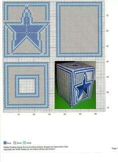 DALLAS COWBOYS TISSUE BOX COVER by DAWNMARIE ABEL