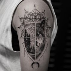 Wolf Transition Tattoo by Balazs Bercsenyi - TATTOOBLEND