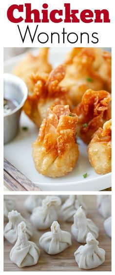 Chicken wontons – easiest and the best fried chicken wontons ever! Takes 20 mins including wrapping. Super crispy & yummy, get the easy recipe | http://rasamalaysia.com