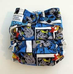 Love this!! Must get =]  Batman Cloth Diaper by Spider Monkey Designs