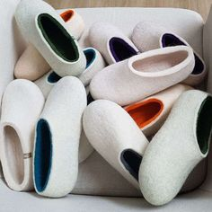#white #slippers by wooppers.com