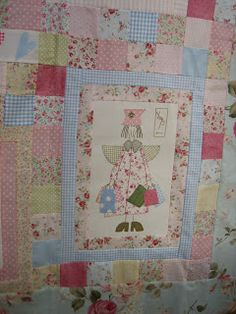 Susanpatch: Angel story quilt TERMINADO Hatch Patch, Anni Downs, Angel Stories, Patches, Quilts, Blanket, Angels, Crafts, Baby