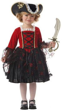 Toddler Pretty Pirate Princess Costume - My daughter wore this for Halloween one year