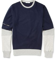 Tim Coppens - Colour-Block Jersey and Mesh Sweatshirt | MR PORTER