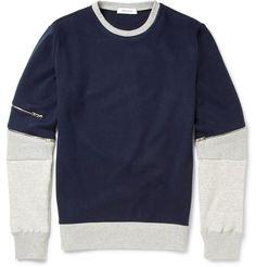 Tim Coppens - Colour-Block Jersey and Mesh Sweatshirt|MR PORTER