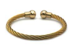 Decorative Stainless Steel Cuff Bracelet Bangle Gold