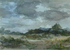 aqaruel naakten | TN_Theodorus van Oorschot, Landschap, aquarel, 22 X 31 cm_