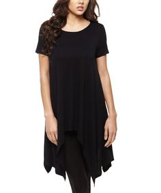 Loving this Black Handkerchief Tunic on #zulily! #zulilyfinds