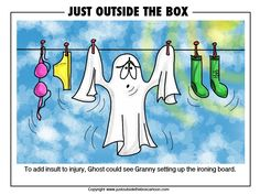 ghost Archives - Just Outside the Box Cartoon Funny Ghost, Ghost Humor, Laundry Humor, Ghost Hauntings, Images Google, Hallows Eve, Just For Fun, Paranormal, Creepy