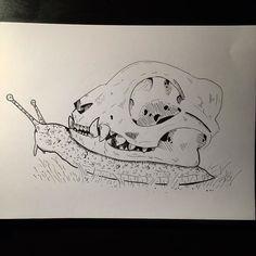 26. Certified cat killer  #snail #cat #catskull #killer #art #artsy #artist #artwork #drawing #drawtober #drawlloween #drawsofinsta #talentedpeopleinc #arts_help #blackandwhite #spotmesisters #sketch_daily #inktober2015 #inktober #ink #dailychallenge #sketch #sketching #sketchbook #halloween by klasflod