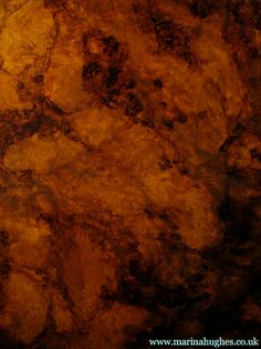 Faux Effects I Wood graining sample of painted burl wood