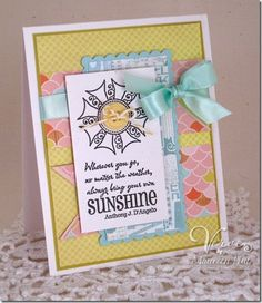 Card by Maureen Plut using the Feel the Sun and Let it Shine sets from Verve Stamps.