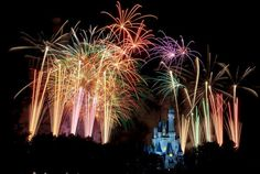 Walt Disney World fireworks display..