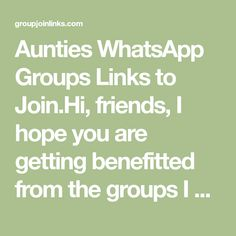 Aunties WhatsApp Groups Links to Join Whatsapp Phone Number, Whatsapp Mobile Number, Girl Group Pictures, Girls Group Names, Girl Number For Friendship, Linked List, Girls Phone Numbers, Desi Girl Image, Beautiful Girl In India