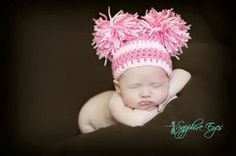 Double Pom Pom Hat-Super cute things for the little lady!