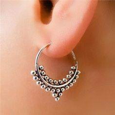 Silver Earrings With Pearl