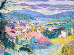 """Pierre Bonnard (1867-1947) """" Paysage au Cannet."""""""