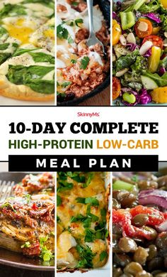 Complete High-Protein Low-Carb Meal Plan Looking for a low-carb meal plan that's also high in protein? This High-Protein Low-Carb Complete Meal Plan is filled with incredible no-hassle meals that will help you lose weight and feel great! Low Carb High Protein, High Protein Meal Plan, Low Carb Meal Plan, High Carb Meals, Easy High Protein Meals, No Carb Meal Ideas, Meals With No Carbs, Get Lean Meal Plan, Healthy Low Fat Meals