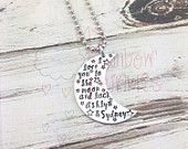 I love you to the moon and back hand stamped personalized necklace - gift for her - mom - daughter - granddaughter