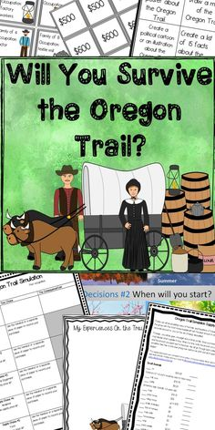 This simulation helps students understand the obstacles faced by pioneers traveling along the Oregon Trail. It includes: -30 slide simulation game -supply price list -choice chart -simulation directions -budgets and family profile -extension activities.