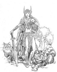 valkyrie warrior guerri re dessin pinterest tatouage guerri res et tatouage viking. Black Bedroom Furniture Sets. Home Design Ideas