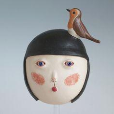 Girl with Robin | MIDORI TAKAKI