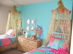 Tropical Bedroom Design Ideas, Pictures, Remodel, and Decor needs real mozzie nets
