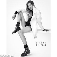 Gisele Bündchen stars in Stuart Weitzman fall 2014 campaign