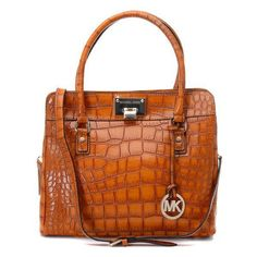 Michael Kors Cracking Large Brown Totes Outlet