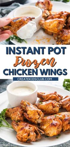 Learn how to cook frozen chicken wings in the Instant Pot! Chicken Wings from frozen chicken are simple to make and taste amazing. These frozen wings cook in the pressure cooker for 11 minutes then get basted with more sauce and broiled to crispy perfection! Visit the blog to get the full recipe and instructions on how to prepare this recipe in your own home! Frozen Chicken Wings, Crispy Chicken Wings, Tandoori Chicken, Good Healthy Recipes, Lunch Recipes, Healthy Snacks, Dinner Recipes, Convenience Food, Learn To Cook