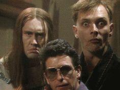 One last Rik Mayall gif & goodnight British Humor, British Comedy, Welsh, Ben Elton, Rik Mayall, Little Britain, British Family, Comedy Duos, Film School