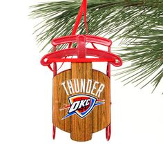 Oklahoma City Thunder Sled Ornament
