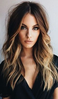 37 Hair Colour Trends 2019 for Dark Skin That Make You Look Younger - Hair Colou. 37 Hair Colour Trends 2019 for Dark Skin That Make You Look Younger - Hair Colour Style y belleza Hair Color Dark, Ombre Hair Color, Hair Color Balayage, Ombre Rose, Dark Ombre Hair, Balayage On Dark Hair, Brunette Hair Color With Highlights, Curly Hair Styles, Natural Hair Styles