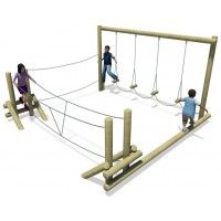 A timeless playground favourite, the Adventure Frame continues to be a very popular piece of playground equipment that can be enjoyed by a wide age range. Backyard Playground, Backyard For Kids, Backyard Games, Playground Ideas, Ninja Warrior Course, Backyard Trampoline, Play Yard, Kids Play Area, Outdoor Classroom