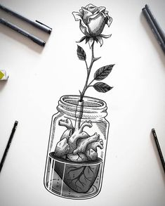 Videos black and white illustration, black and white sketches, sk Cool Art Drawings, Pencil Art Drawings, Art Drawings Sketches, Tattoo Sketches, Easy Drawings, Tattoo Drawings, Animal Drawings, Black And White Drawing, Black And White Illustration