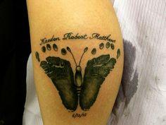 Footprint Tattoo Baby footprint tattoo