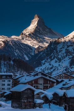 Winter in Zermatt, Switzerland (by CoolbieRe).I want to go see this place one day. Please check out my website Thanks.  www.photopix.co.nz