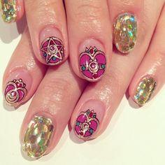 Sailor moon nails