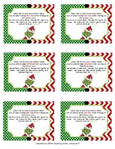 7 Best Images of Candy Cane Poem Printable Tag - Grinch Candy Cane Poem Printable Tag, Legend of the Candy Cane Story Printable and Christmas Candy Cane Poem Printable Grinch Christmas Party, Grinch Who Stole Christmas, Grinch Party, Preschool Christmas, Christmas Activities, Christmas Projects, Christmas Holidays, Christmas Stuff, December Holidays