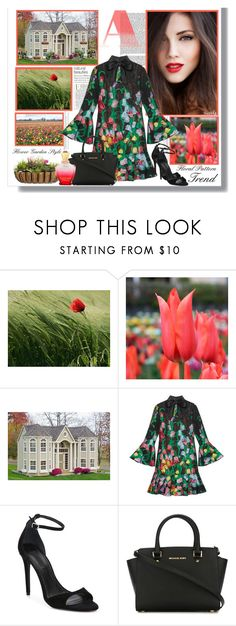"""""""🌷 TULIP GARDEN: Floral Dress 🌷"""" by polyvore-suzyq ❤ liked on Polyvore featuring Gucci, Alexander Wang, MICHAEL Michael Kors and Creed"""