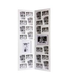 Marcos blanco corazón decorativas de madera colgando puestos 6 x 6 cm 10 x 10 cm 13 x 15 cm