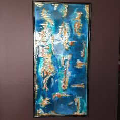 """My handmade """" Island time"""" resin and ink  SOLD"""