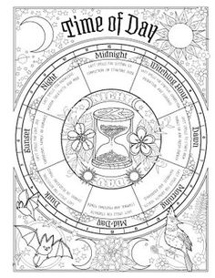 Coloring Pages Book Of Shadows Set Your Intentions Follow The Moon