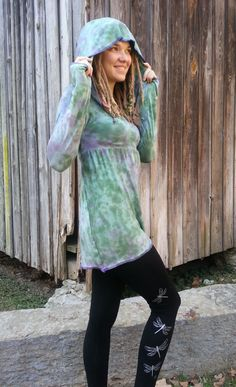 Long Sleeve Pixie Shirt Gypsy Shirt Hooded Shirt by GypsySewL