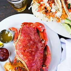 Landmark Stearns Wharf has panoramic ocean views. But when you reach the Santa Barbara Shellfish Co., skip them and eat at this no-nonsense seafood shack's bar so you can watch cooks make such favorites as lobster tacos, a delicacy you shouldn't miss.