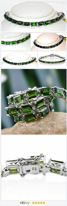 Russian Chrome Diopside Bracelet 17 carats 6.5 inches USA SELLER  | eBay  50% OFF #EBAY http://stores.ebay.com/JEWELRY-AND-GIFTS-BY-ALICE-AND-ANN