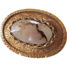 Offers accepted, mail to: vanityflairvintage@gmail.com   http://www.rubylane.com/item/676693-J617/Brooch-Victorian-Moss-Agate-Pin