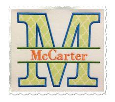 Split Applique Alphabet Machine Embroidery by RivermillEmbroidery Applique Letters, Embroidery Alphabet, Applique Embroidery Designs, Machine Embroidery Applique, Embroidery Fonts, Embroidery Ideas, Embroidery Monogram, Small Alphabets, Monogram Fonts