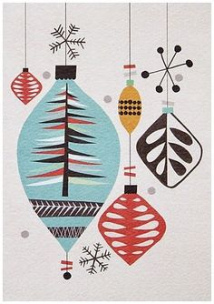 Tropical Christmas Tree by Delphine Lebourgeois Artist ...